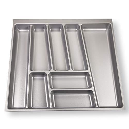 Sotech SO-Tech® Cubertero ORGA-Box® II para Cajón de Nobilia 60 cm (Cubertero: 462 x 505 mm) Color Gris Argentado