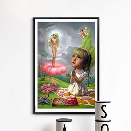 YuanMinglu Puppe leinwand ölgemälde Druck Wohnzimmer Dekoration Moderne wandkunst ölgemälde Poster Halle Bild rahmenlose malerei 48x72 cm