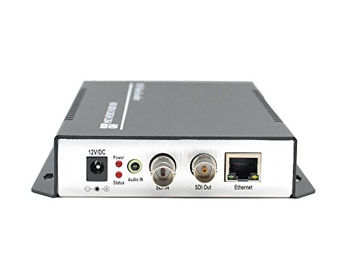 ISEEVY H.265 H.264 1080P SDI Video Encoder IPTV Encoder with Loopout for IPTV, Live Stream, Broadcast Support RTMP RTMPS RTSP UDP RTP HTTP Protocols and Facebook Youtube Wowza Platforms