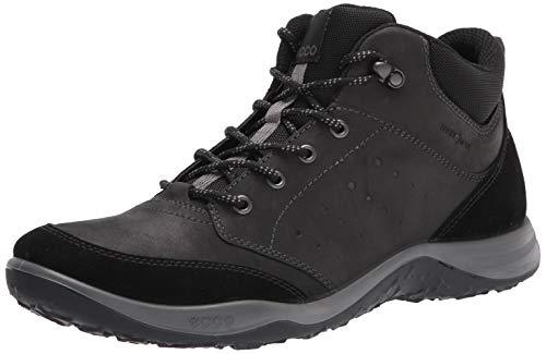 ECCO Men's Espinho Mid Cut Hydromax Hiking Shoe, BLACK/BLACK, 8 M US