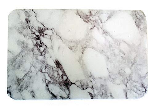 ouest-balneo Tapis de Bain diatomite imprimé antidérapant écologique marbre 60 x 40 x 1 cm