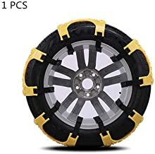 Xeroy 1 PCS Anti Snow Chains of Car, Universal Anti Skid Tire Chains Wheel for Cars, Vehicle, SUV Chain Tire Emergency Thickening Anti-Skid Chain