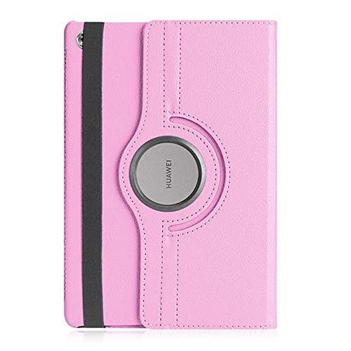 LIUCHEN Funda de piel sintética giratoria para Huawei Mediapad M5 Pro 10.8 Lite 10.1 8.4 BAH2-W19 JDN2-AL00 SHT-AL09 CMR-W09 Tablet, rosa, para Huawei M3 lite10