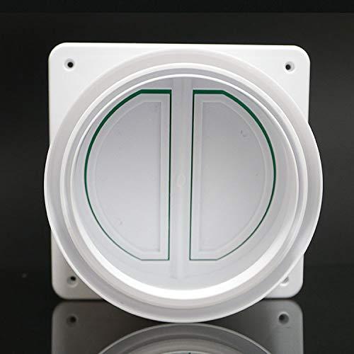 Universal Tapón de cocina para campana extractora Prevención de reflujo – Deflector de ventilación – Válvula de retención de ventilador de escape anti olor válvula de control de humo, 15/16/18 cm