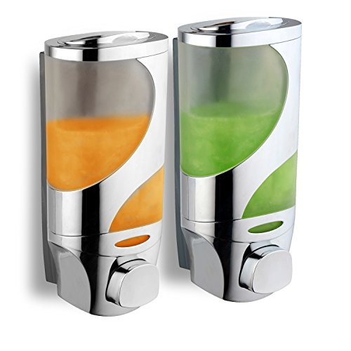 HotelSpaWave Luxury Soap/Shampoo/Lotion Modular-Design Shower Dispenser System (Pack of 2)