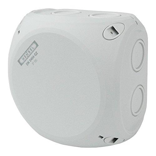 Preisvergleich Produktbild Kabelabzweigkasten DK 0404 GZ mit Klemme 1, 5-4mm2 Cu 3~ IP66 mit 5-poliger Verbindungsdose HENSEL 5365