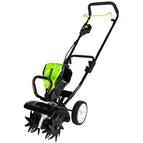 Greenworks 10-Inch 80V Cordless Tiller Cultivator, Battery and Charger Not Included