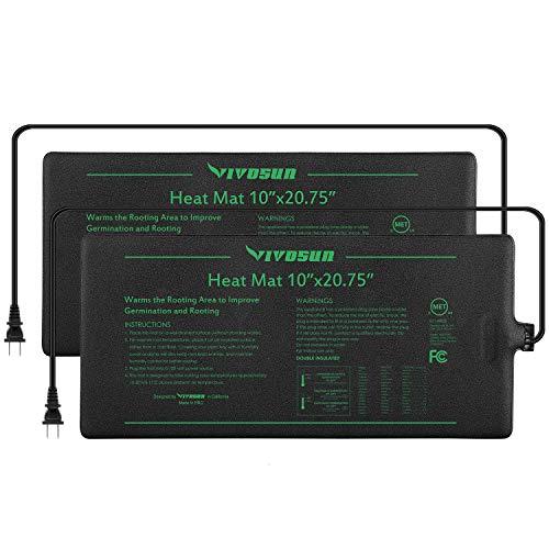 VIVOSUN 2 Pack Durable Waterproof Seedling Heat Mat Warm Hydroponic Heating Pad 10 x 2075 Inch