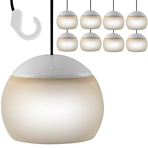 8X LED Hängelampe Lampe Laterne Camping Zeltlampe Leuchte Lampion Flexibel
