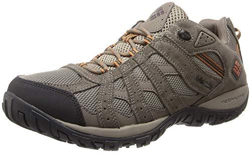 Columbia Men's Redmond Waterproof Hiking Shoe, Pebble, Dark Ginger, 11 D US