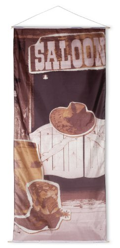 Saloon Wand Banner Wilder Westen 240 x 100 cm - Party Dekoration Deko Western Cowboy Wild West Mottoparty Wanddeko