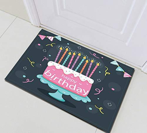 123456789 Alles Gute zum Geburtstag Kuchen Kerze Badezimmer Set Dekor Stoff Duschvorhang Haken