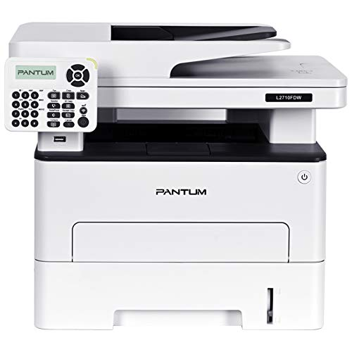 Pantum L2710FDW Monochrome Laser Printer, Compact All in One Printer, Multifunction Printer, Wireless Networking and Duplex Printing (V1M58A)