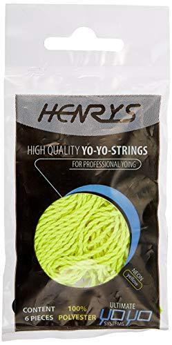 Henrys Yo-Yo Strings Neon Yellow (Pack of 6