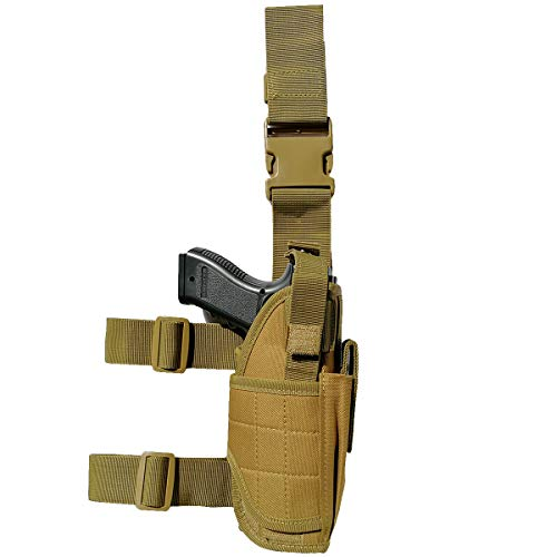 Tactical Leg Gun Holster for Pistol,Fit Men & Women - Coyote Brown
