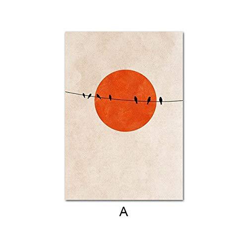 YuanMinglu Nordischen Stil abstrakte Winter Poster Morgen Landschaft Druck wandkunst leinwand Bild skandinavischen malerei Dekoration rahmenlose 40x50 cm