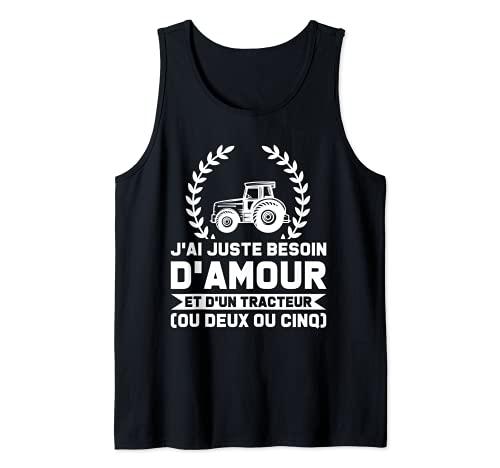 Jai besoin damour juste et dun fromage de chèvre Chèvres Débardeur