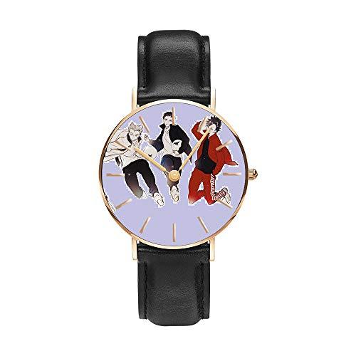 Anime Haikyu!! Relojes de Pulsera la Moda Reloj de Estudiante Niño Niña Reloj de Cuarzo Neutro Reloj Impermeable Pulsera de Cuero de Regalo Haikyu!! Regalo de los Fans Sorteo de Halloween-A8