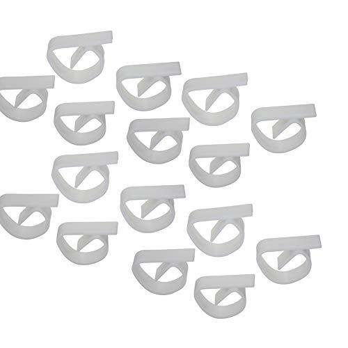 all-around24 8 Stück Tisch Decken Klammer Tischdeckenhalter für draußen und innen Kunststoff Weiß Tischeckenklammern