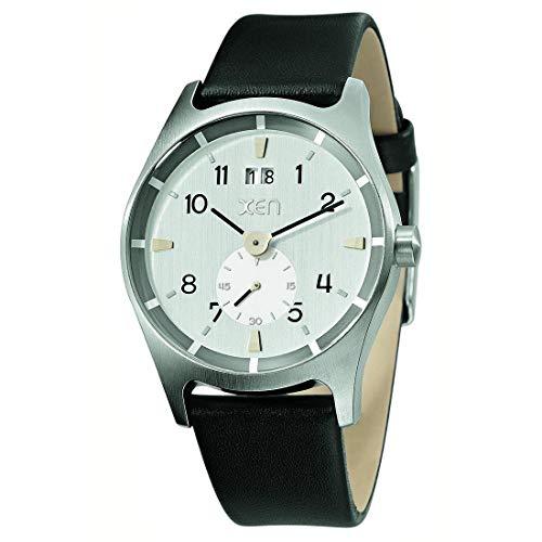 XEN Herrenuhr schwarz/Silber XQ0212