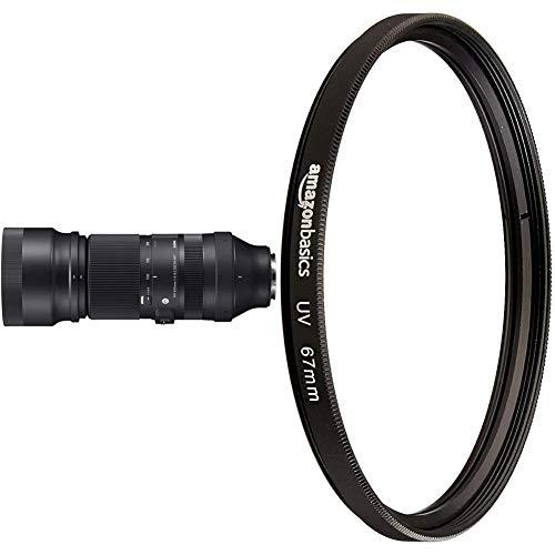 Sigma 100-400 F5-6,3 DG DN OS Contemporary Objektiv für Sony-E Objektivbajonett & Amazon Basics UV-Sperrfilter - 67mm