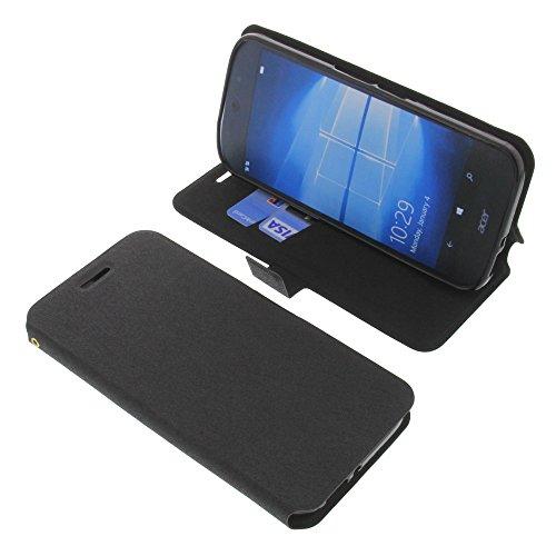 foto-kontor Tasche für Acer Liquid Jade Primo Book Style schwarz Schutz Hülle Buch