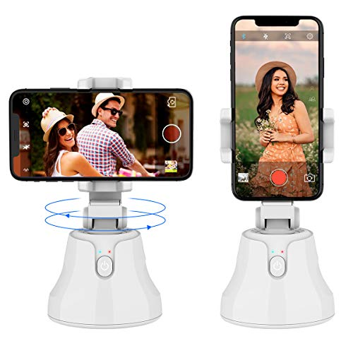 Smart Selfie Stick, KKUYI Tracking Holder 360° Rotation Auto Face Object Tracking Phone Camera Mount, Vlog Shooting Phone Holder Portable Smart Track Selfie with All iPhone and Android Phone