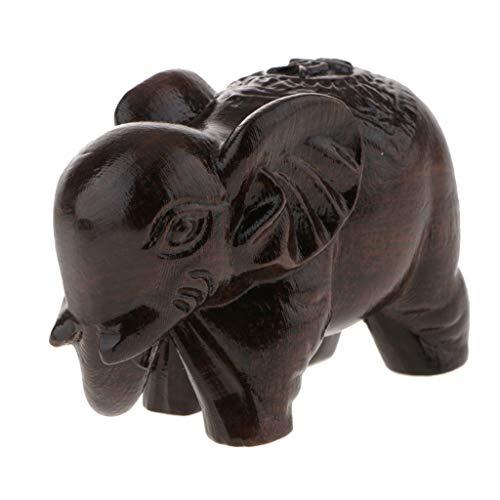 Asiatische Glückliche Glückselefanten Holzelefant Elefant Figur Holzfigur Tischdeko Geschenk