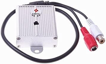 Vanxse Mini Microphone High Sensitive Pickup Audio Mic Waterproof Metal Case for CCTV Security Camera DVR System