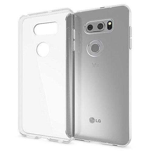 NALIA Handyhülle kompatibel mit LG V30, Ultra-Slim TPU Silikon Hülle Cover Crystal Clear Schutzhülle Dünn Durchsichtig, Etui Hülle Handy-Tasche Backcover Transparent, Smart-Phone Schutz Bumper