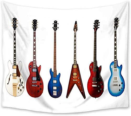 Tapiz Tapiz De Pared Tapices De Pared Guitarra Eléctrica Colcha De Pared Manta Ropa De Cama Paño De Mesa Muebles Eventos Deportivos 150*200Cm