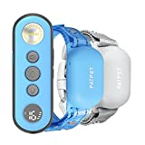 PATPET Dog Training Collar with Remote, Rechargeable IPX7 Waterproof Dog Shock Collar for 8 to 110 lbs Medium Large 2 Packs