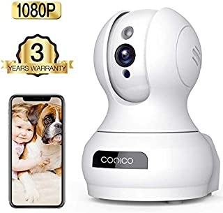 Wireless Camera, 1080P HD WiFi Pet Camera Baby Monitor, Pan/Tilt/Zoom IP Camera for..