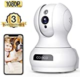 Wireless Camera, 1080P HD WiFi Pet Camera Baby Monitor, Pan/Tilt/Zoom...