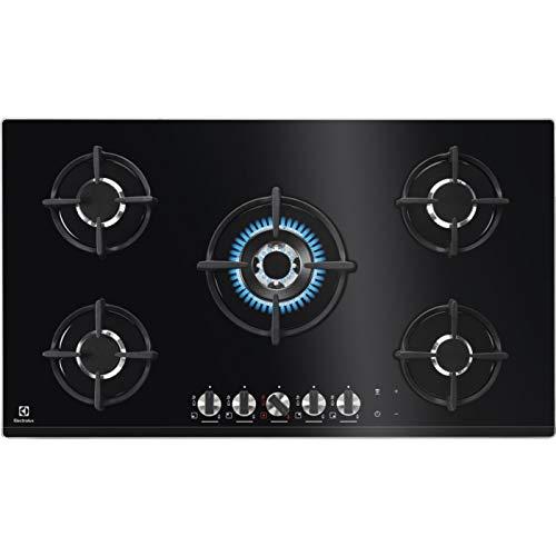 Electrolux - Piano cottura a gas PVN 95 FUOV in cristallo temprato nero da 88cm