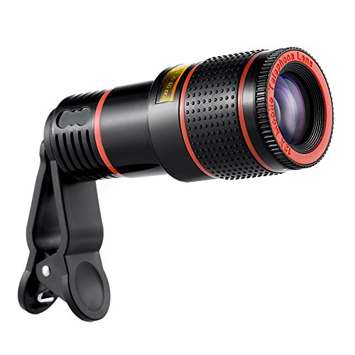OWSOO Lente de câmera telescópica universal com zoom 12X para celular compatível com iPhone 6S 6 e smartphones Samsung S7 S6 edge