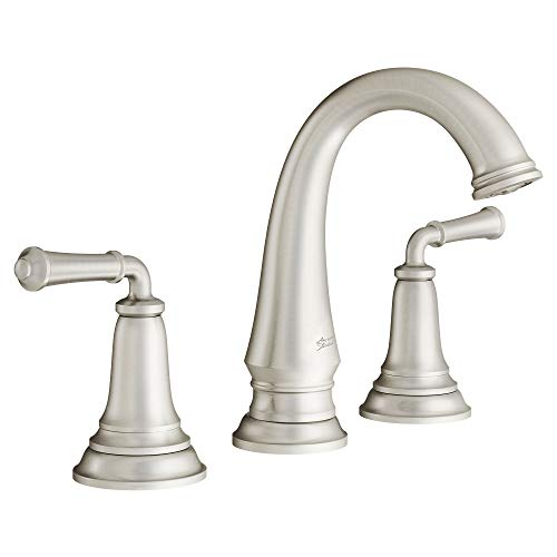 American Standard 7052807.295 Delancey Widespread Bathroom Faucet with Pop-up Drain, Brushed Nickel