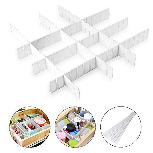 Bostar 6 Piezas Divisor de Cajón de Plástico para Bricolaje Casa Divisor de Necesidades del Hogar Organizador de Almacenamiento DIY