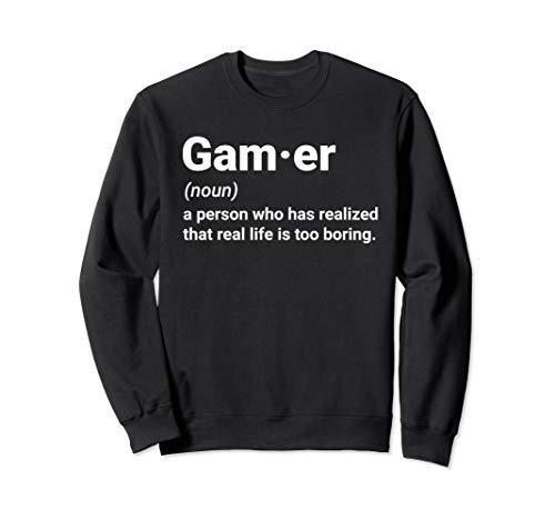Gamer Definition Geschenk für Gaming Fan & Zocker Sweatshirt