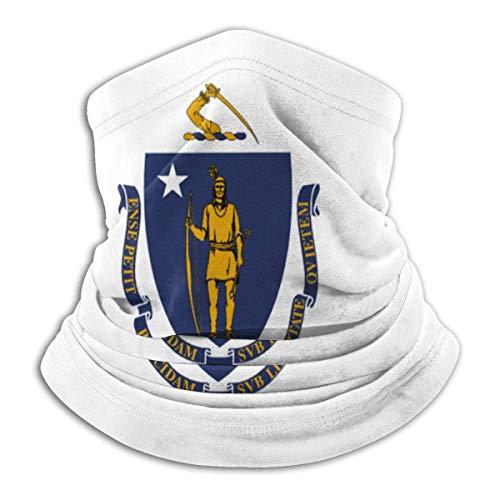 Pañuelo cálido con cuello de bandera de Massachusetts, cubierta facial, pañuelo en la cabeza
