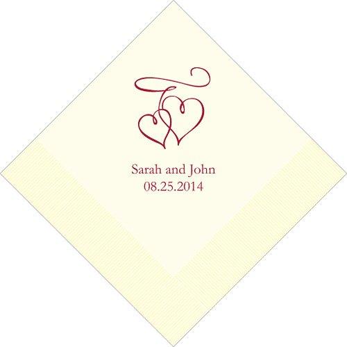 Weddingstar Hochzeit Servietten Herzen, personalisiert