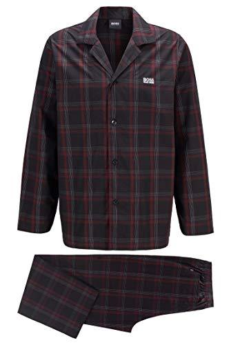 BOSS Herren Urban Pyjama Karierter Pyjama aus Baumwoll-Popeline in Geschenkbox