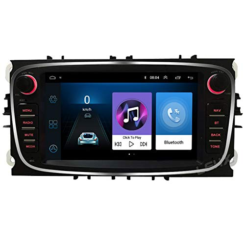 Android 9.1 8 Core 2.5D Pantalla Estéreo para automóvil Navegación por satélite Radio DVD Control del volante Reproductor de video Navegación GPS multimedia para Ford Mondeo 9 (2008(Color:WiFi 2G+32G)