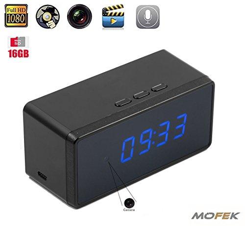 Mofek 16 GB 1080P HD versteckte Kamera Wecker Nanny Spionagekamera Infrarot Nachtsicht Video Recorder Home Security Audio Überwachung