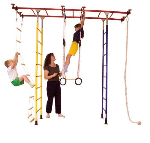 KletterDschungel - das Original - in Kindergartenqualität. Das Indoor Spielhaus als Spielturm im Kinderzimmer. Brücke Standard (für Raumhöhen von 205-240 cm)