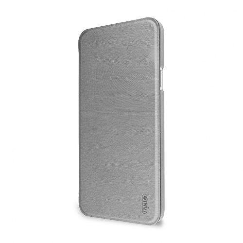 Artwizz SmartJacket Handyhülle Designed für [Galaxy A3 (2015)] - Schutzhülle in gebürsteter Metalloptik, Rückseiten-Clip mit Soft-Touch - Silber