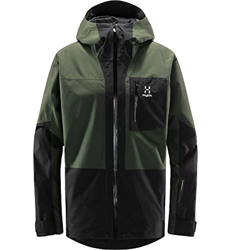 Haglöfs Skijacke Herren Lumi Jacket wasserdicht, Winddicht, atmungsaktiv Fjell Green/True Black L L