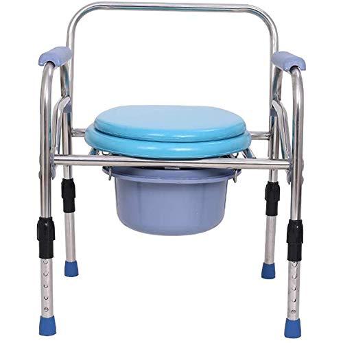 KEDUODUO Extra breiter Nachttisch Commode Sitz 3 in 1 Leichter bariatrischer Toilettenstuhl Duschbank mit Safety Steel Frame Badezimmer Support für ältere Menschen
