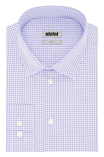 Unlisted by Kenneth Cole mens Slim Fit Checks and Stripes (Patterned) Dress Shirt, Tulip, 16 -16.5 Neck 32 -33 Sleeve Large US