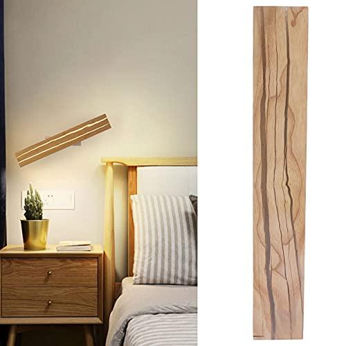 FOLOSAFENAR Luz de Espejo LED, iluminación para el hogar Lámpara de Espejo Lámpara de Madera para el hogar para la habitación de los niños para el Dormitorio en casa